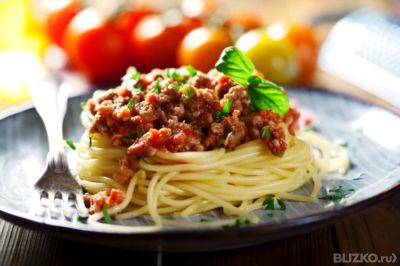 Паста с мясом к спагеттиы