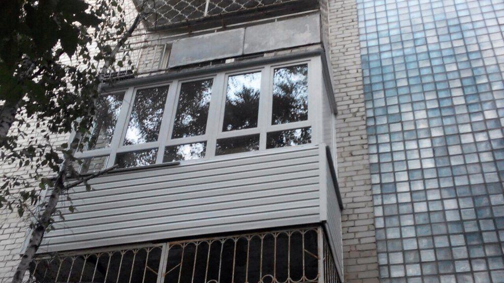 """Балкон 5 метров """"п""""-образный 2 створки в 1стекло (защита от ."""