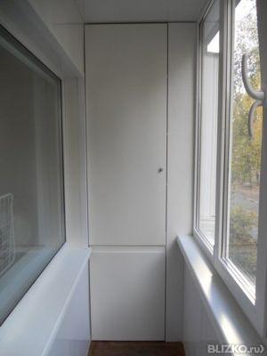 Белый шкаф из лдсп на балкон или лоджию в омске. цена товара.