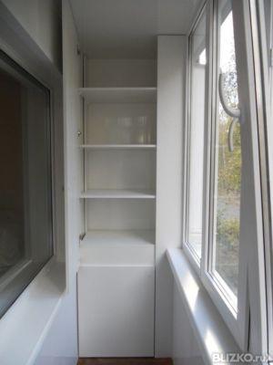 Встроенная под подоконник узкая тумба на балкон или лоджию о.