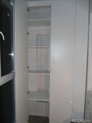 Изготовление и установка светло-коричневого шкафа из лдсп на.