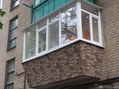 Внешняя отделка балконов и лоджий недорого в москве. фото.
